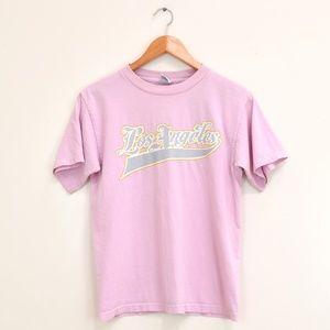 Vintage Los Angeles Pink T Shirt Size Medium